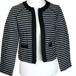 New J.Crew Factory Suiting Striped Tweed Blazer